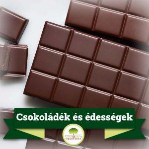 Csokoládék, édességek